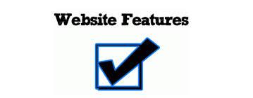 website features list