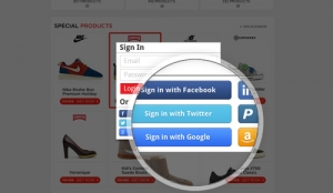 ecommerce social media buttons