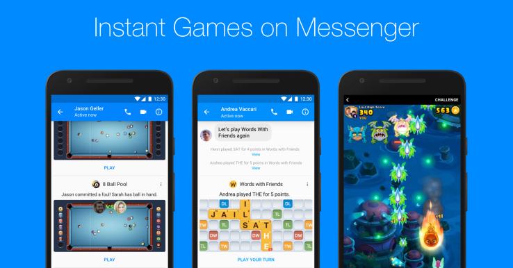 Facebook Messenger Adds Games For All User