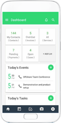 Android CRM app