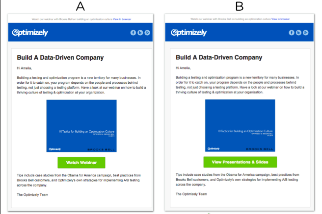 Try A/B email testing for each campaign