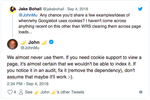 """remove the dependency"""" on cookies"""