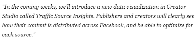 Facebook Says About New Insights