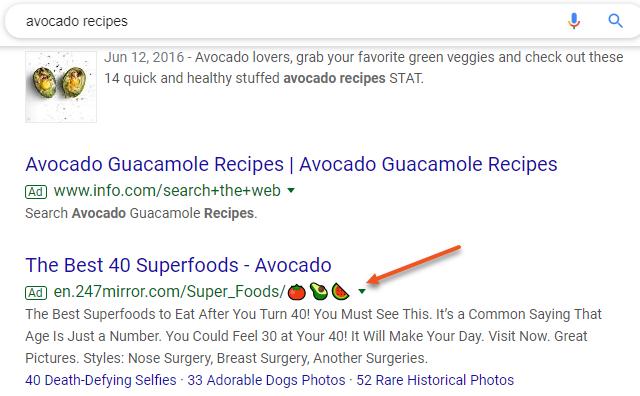 Google Ads Displays Emojis URL