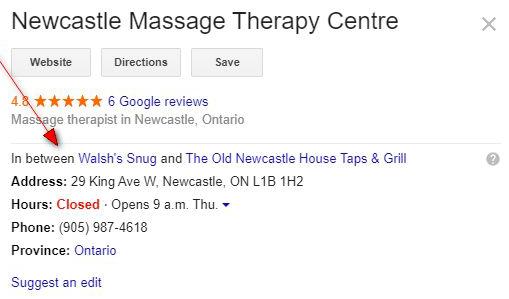 Google Local In Between Business