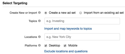 Setting Target Audience on Quora Platform