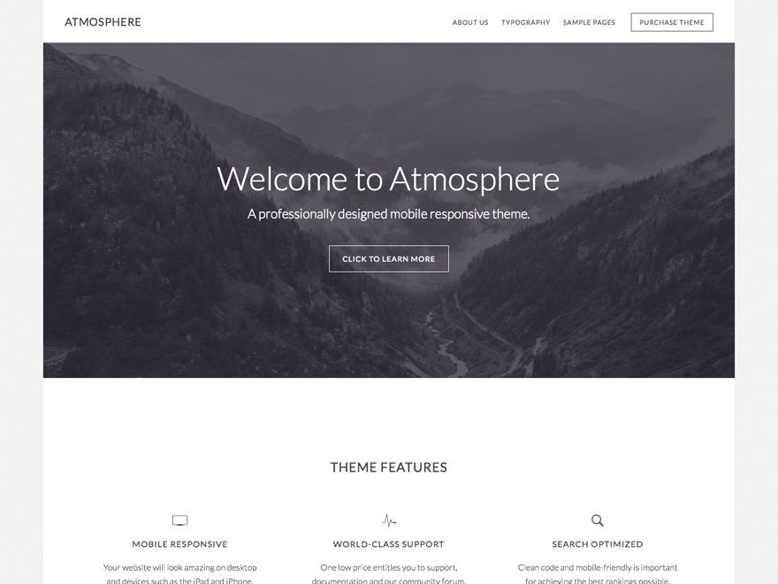 Atmosphere WordPress Theme