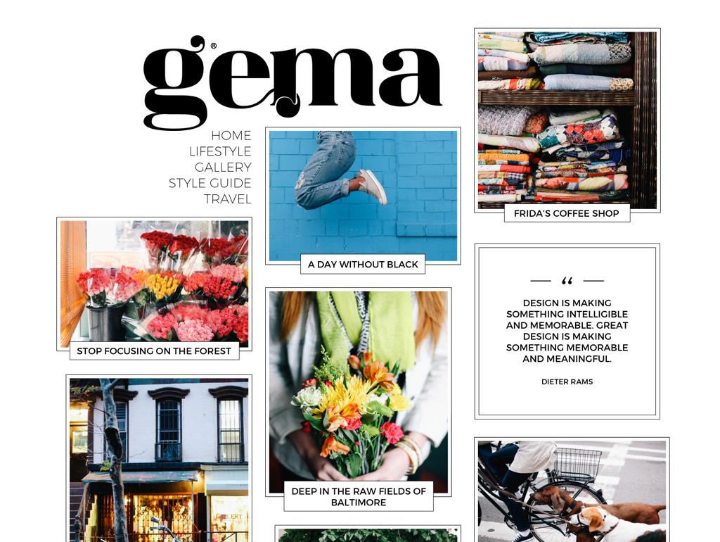 Gema WordPress Theme