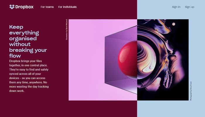 Asymmmetrical Layout Website Layout Idea