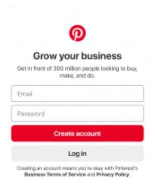 Pinterest Account Creation