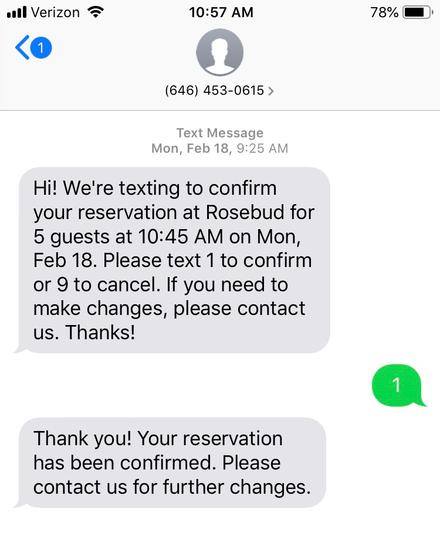 SMS CTA Option