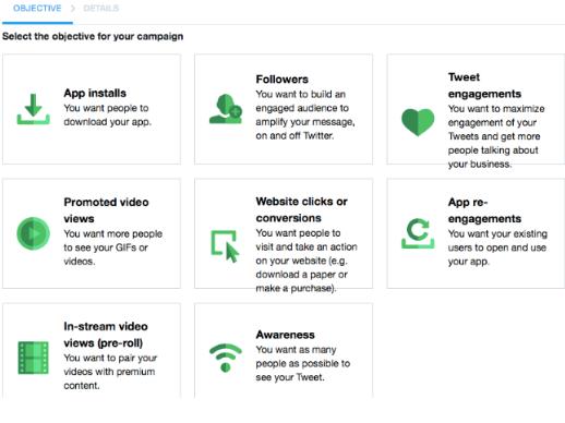 Twitter Ads Objective