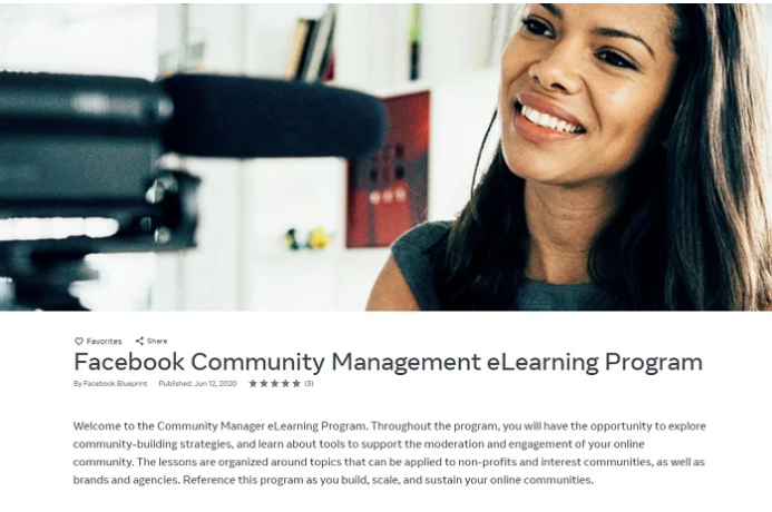 Community management e-learning