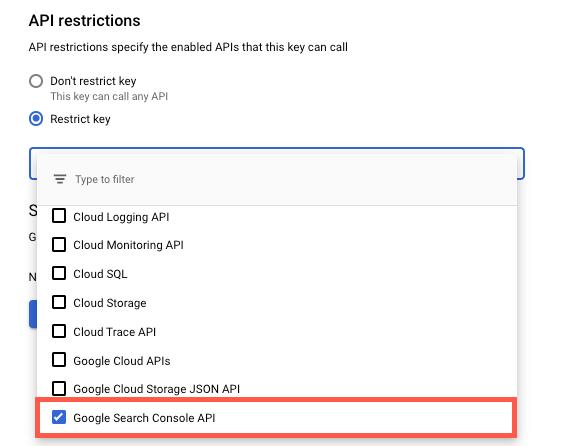 API Key Restriction Changes -