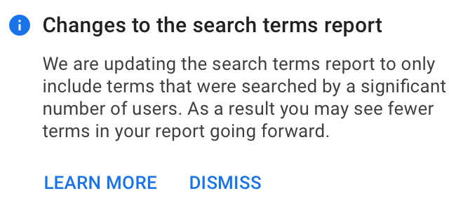 Google Search Term update