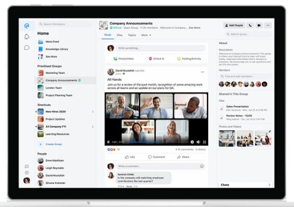 Workplace video streams