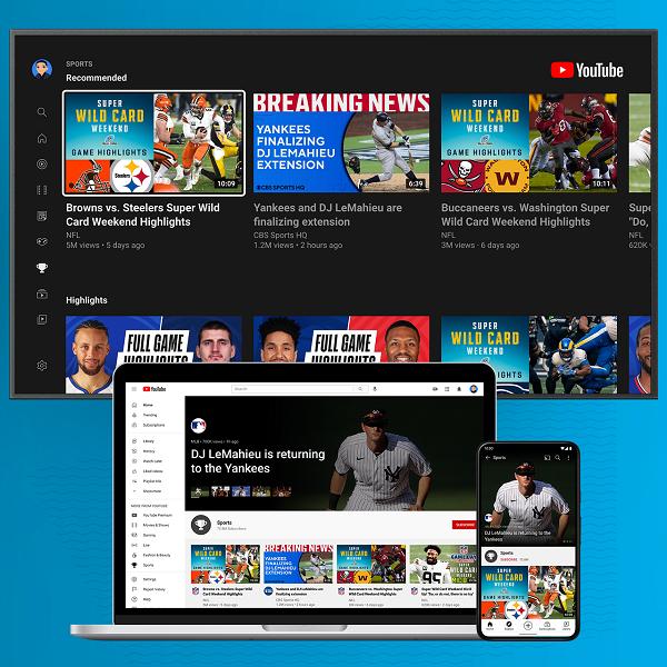 Updated Sport Platform of YouTube