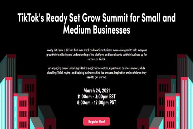 TikTok Ready Set Grow Summit
