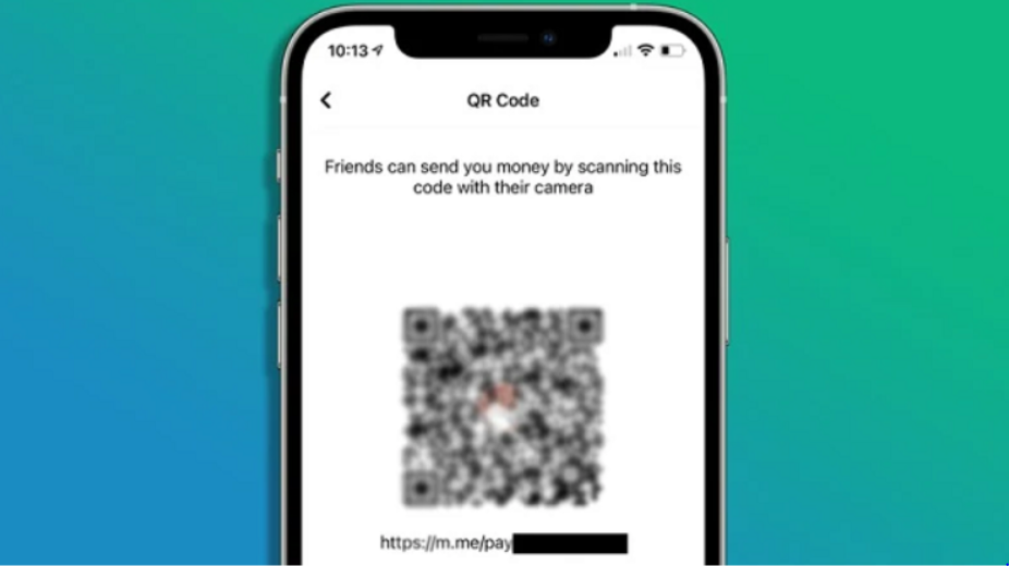 Facebook QR code transfer funds