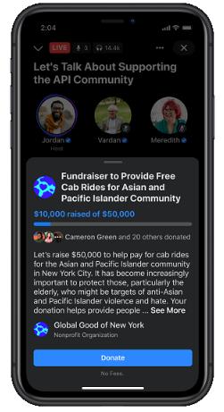 Fb fundraiser